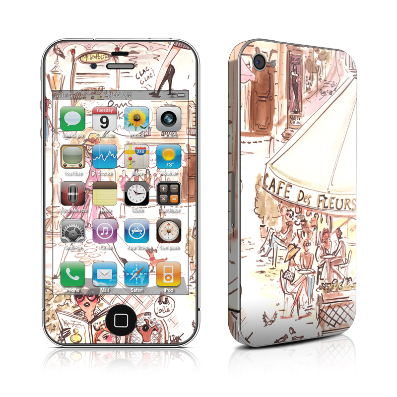 Paris Makes Me Happy iPhone 4s Skin