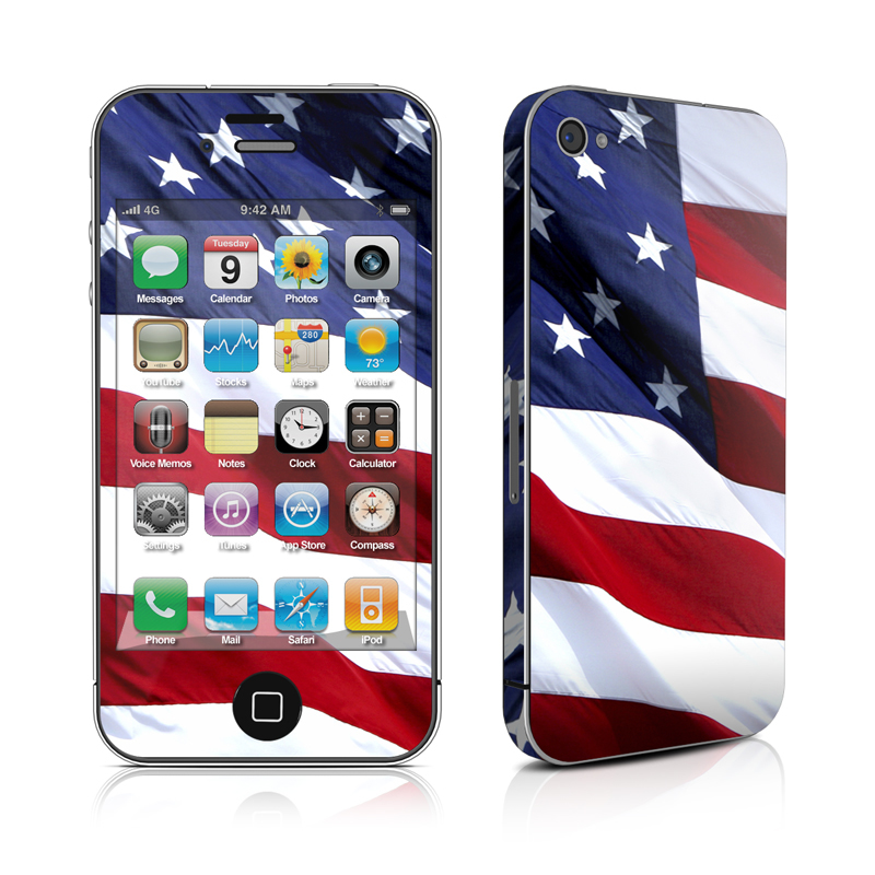 Patriotic iPhone 4 Skin