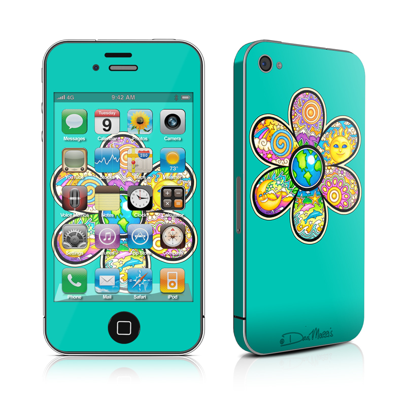 Peace Flower iPhone 4 Skin