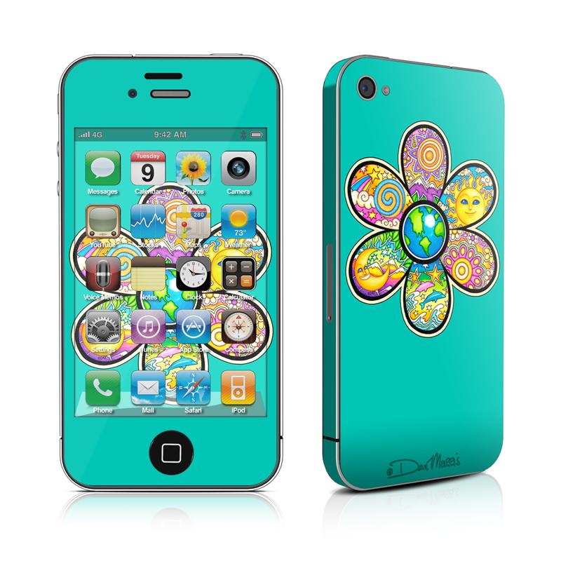 Peace Flower iPhone 4 Skin
