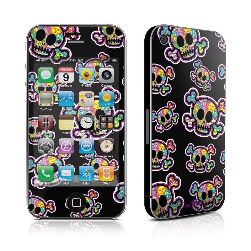 Peace Skulls iPhone 4 Skin