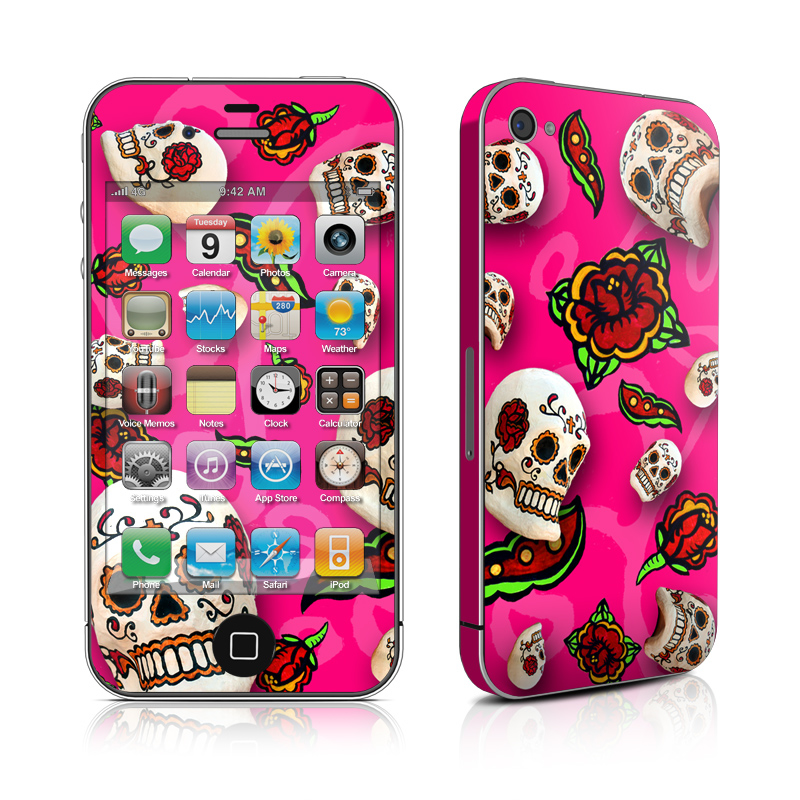 Pink Scatter iPhone 4 Skin