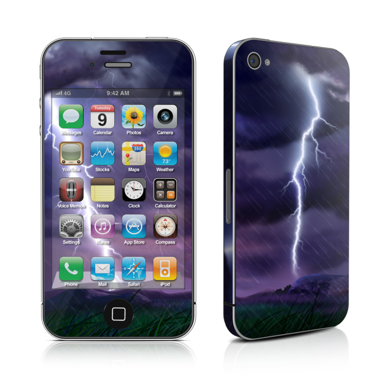 Purple Strike iPhone 4s Skin