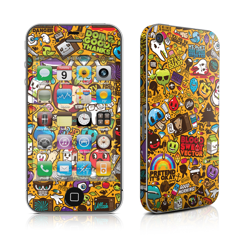 Psychedelic iPhone 4 Skin