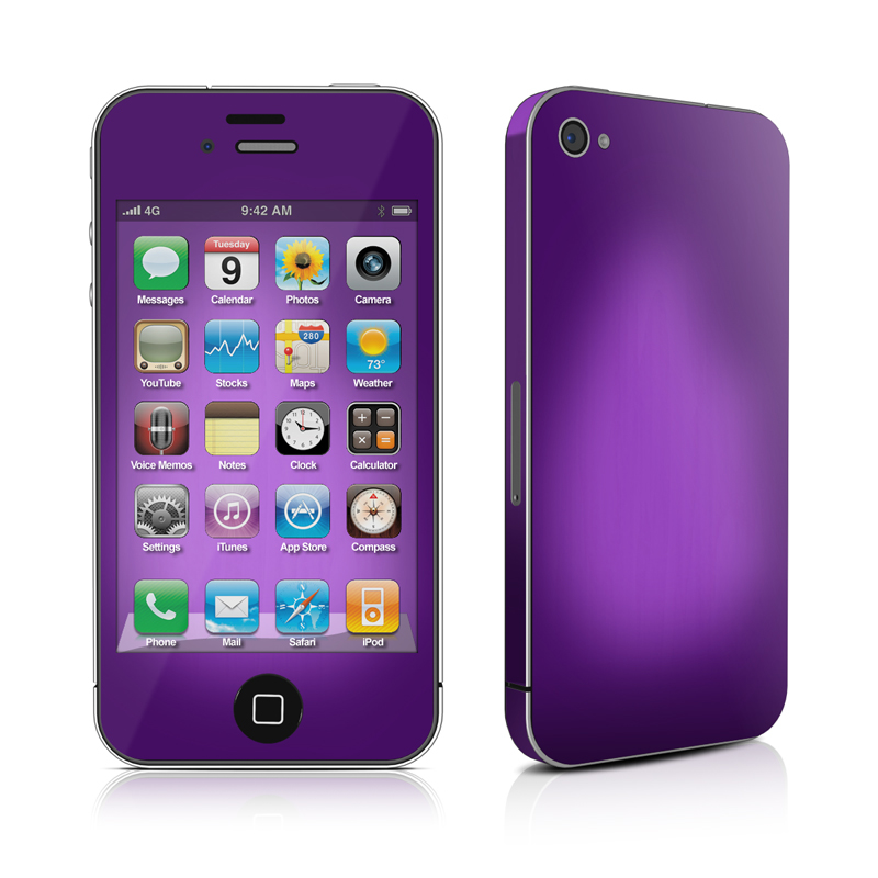 Purple Burst iPhone 4 Skin