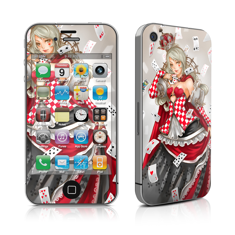 Queen Of Cards iPhone 4 Skin