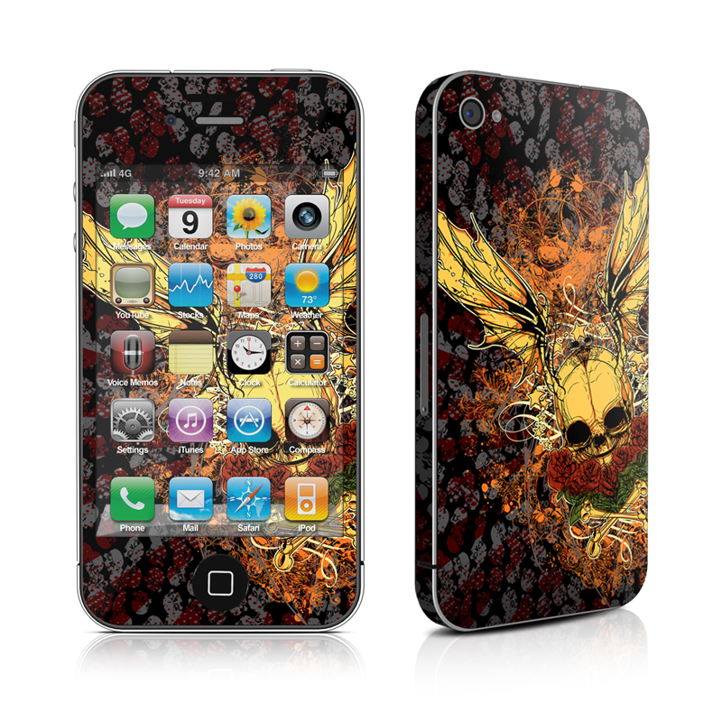 Radiant Skull iPhone 4 Skin