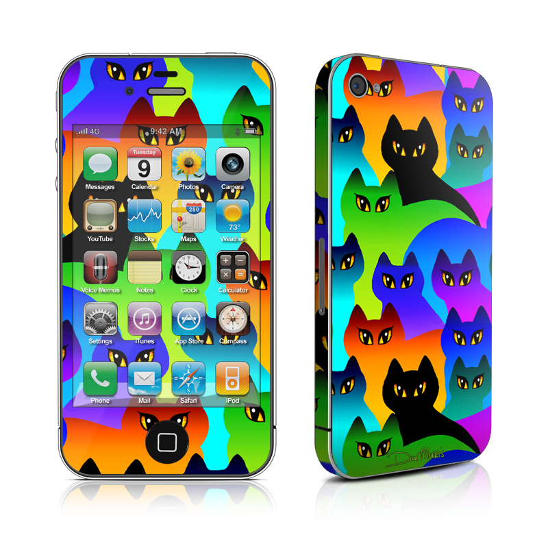 Rainbow Cats iPhone 4s Skin