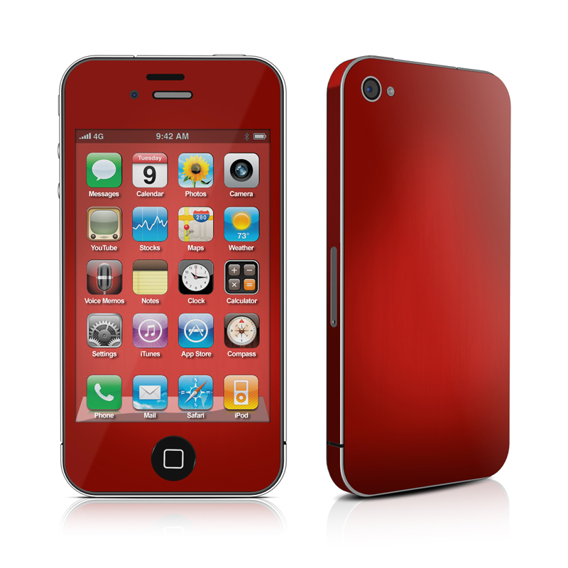 Red Burst iPhone 4 Skin