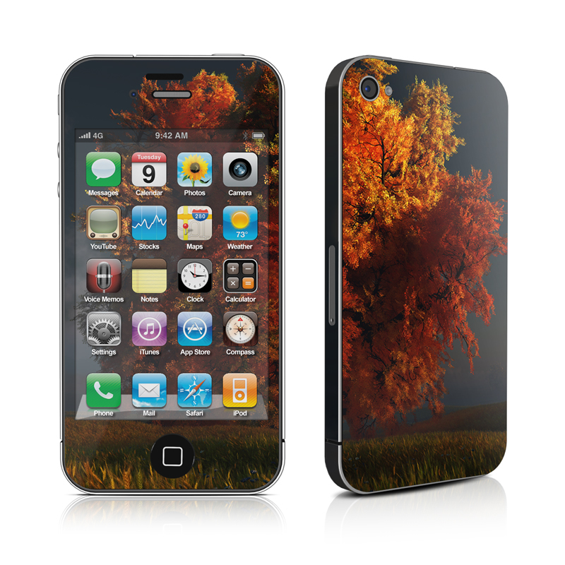 Red and Gold iPhone 4 Skin