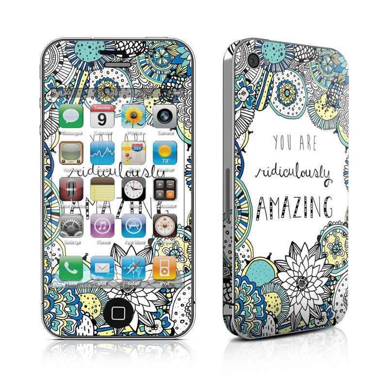 iPhone 4s Skin design of Pattern, Design, Visual arts, Doodle, Illustration, Art with gray, white, black, blue, green colors