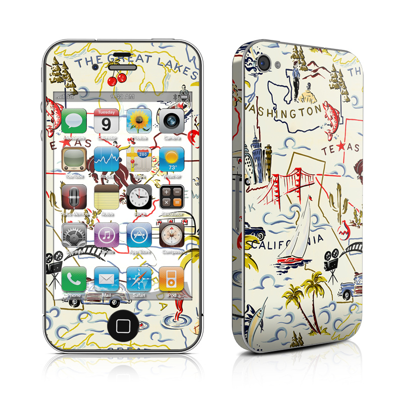 Road Trip iPhone 4s Skin