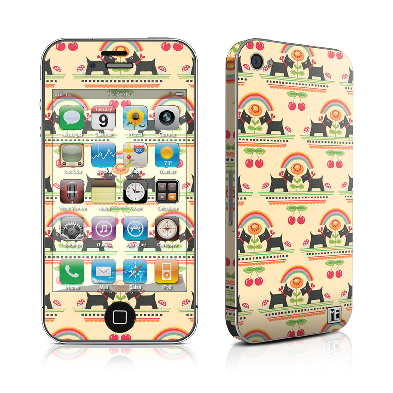 iPhone 4s Skin design of Yellow, Pattern, Line, Textile, Design with pink, gray, black, green, orange, red colors