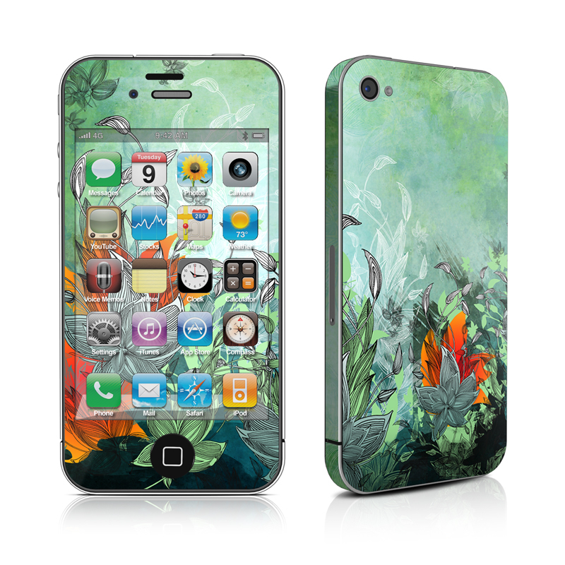 Sea Flora iPhone 4 Skin