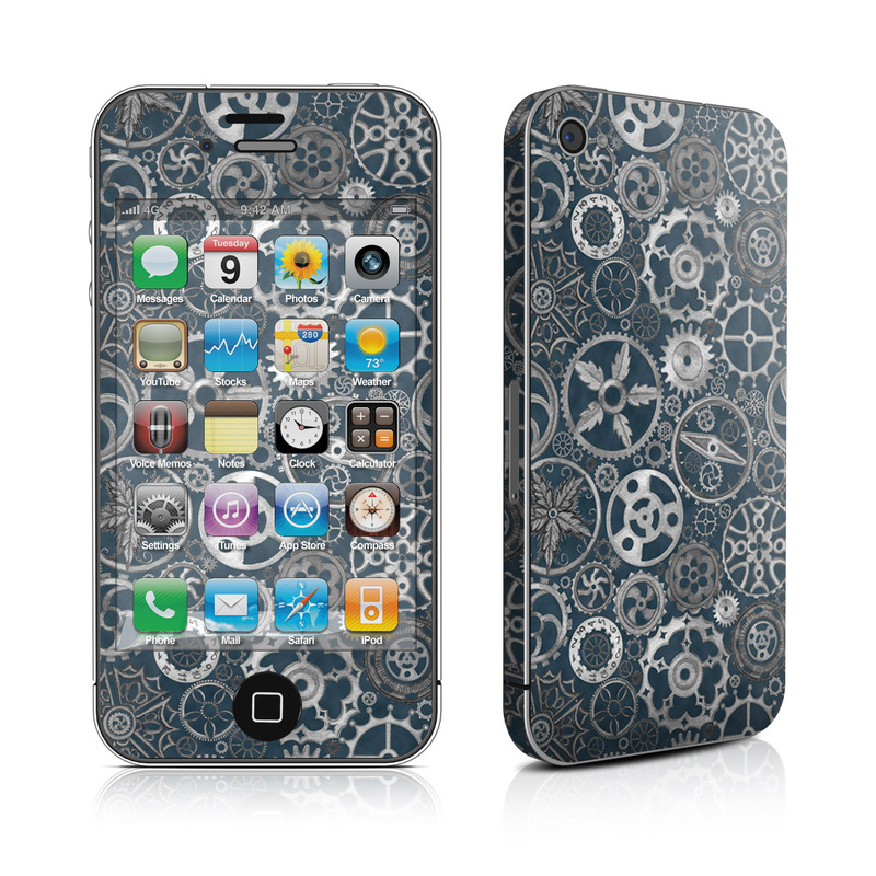 Silver Gears iPhone 4s Skin