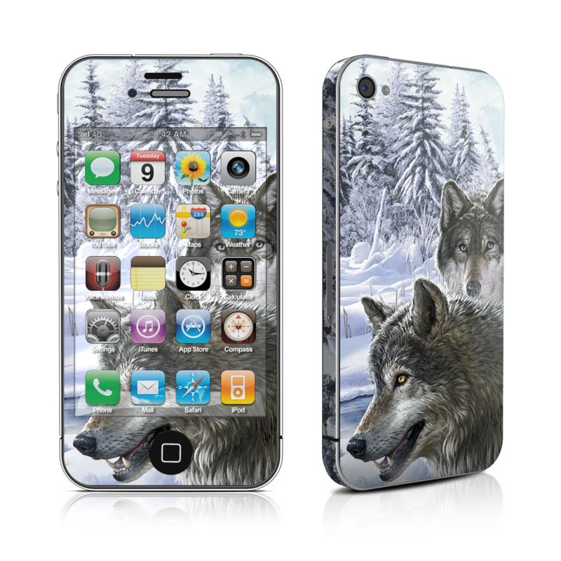 Snow Wolves iPhone 4s Skin