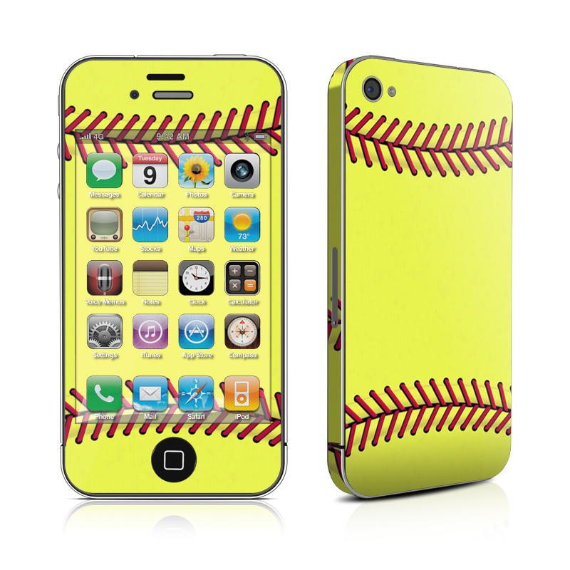 iPhone 4s Skin design of Yellow, Line, Parallel with green, red, black colors