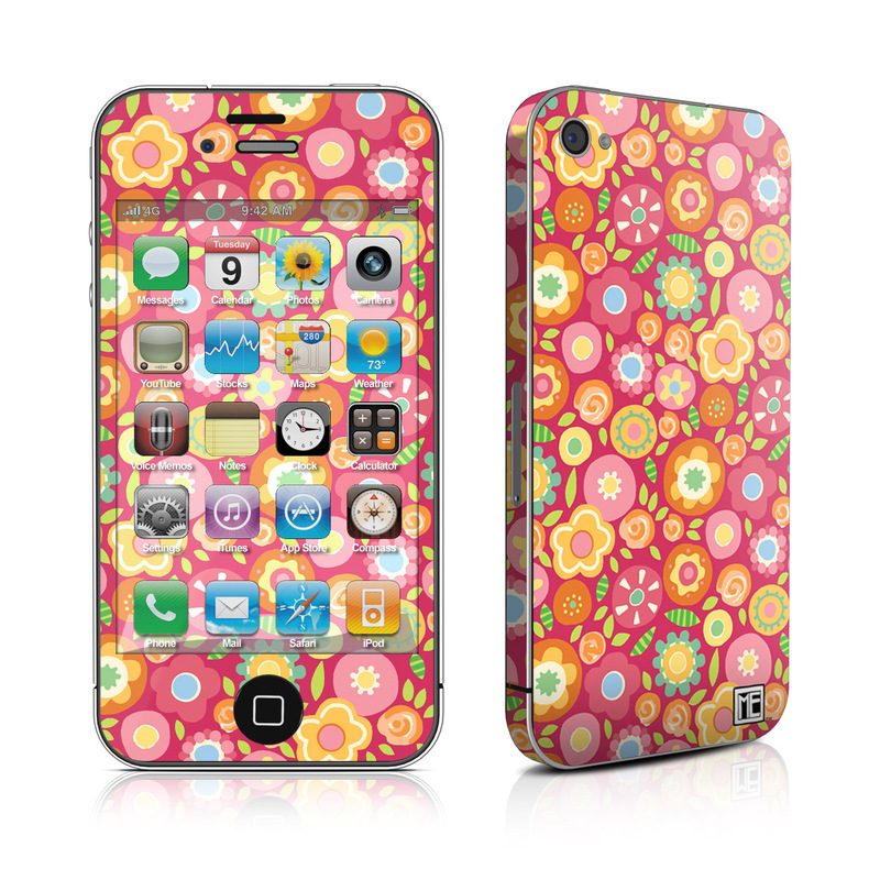 Flowers Squished iPhone 4s Skin