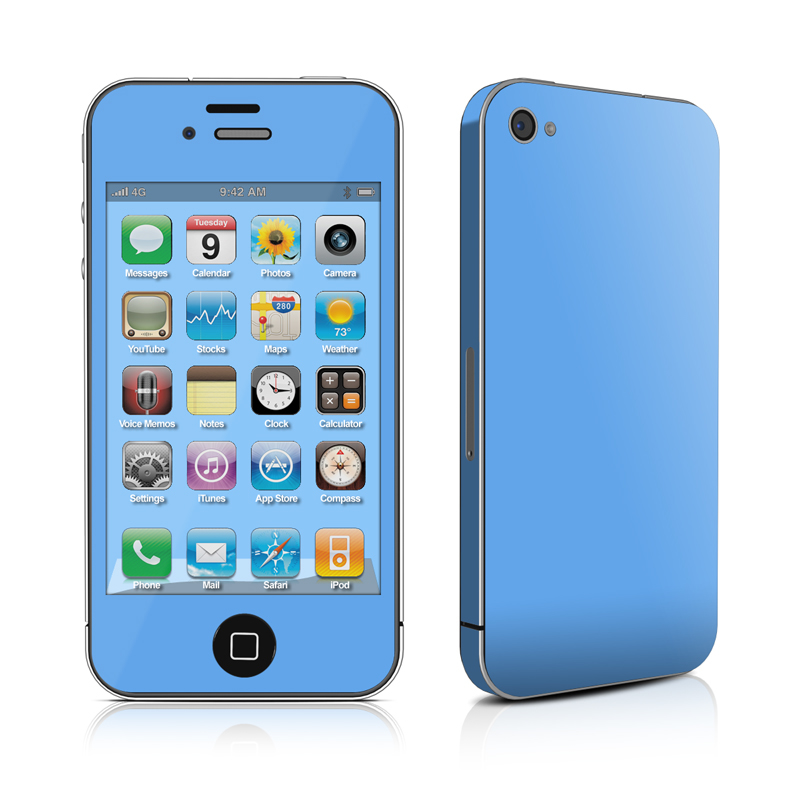 Solid State Blue iPhone 4s Skin