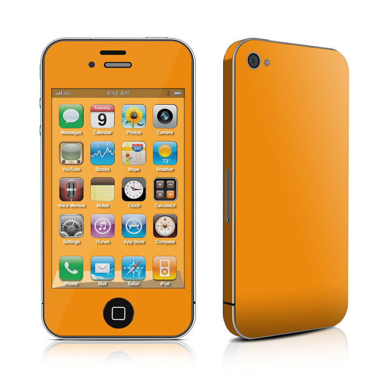 Solid State Orange iPhone 4 Skin