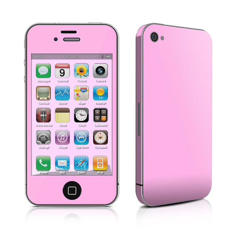 Solid State Pink iPhone 4 Skin