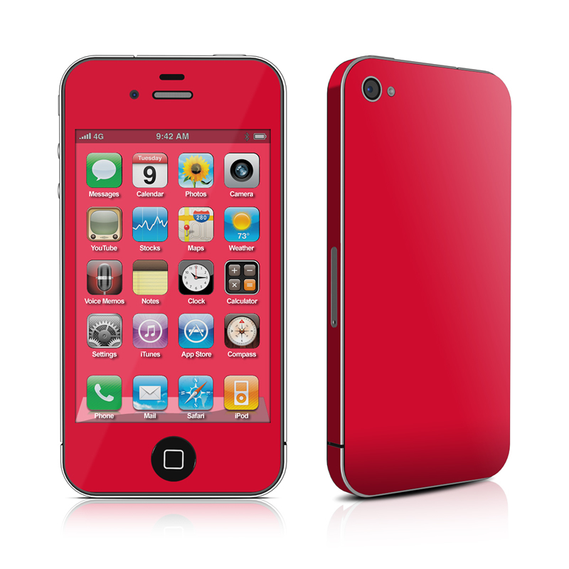 Solid State Red iPhone 4 Skin