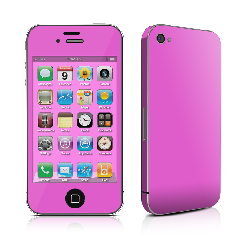 Solid State Vibrant Pink iPhone 4 Skin