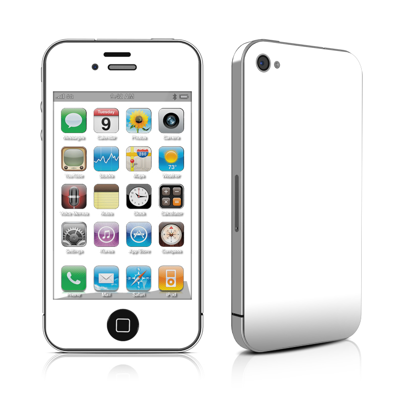 Solid State White iPhone 4 Skin