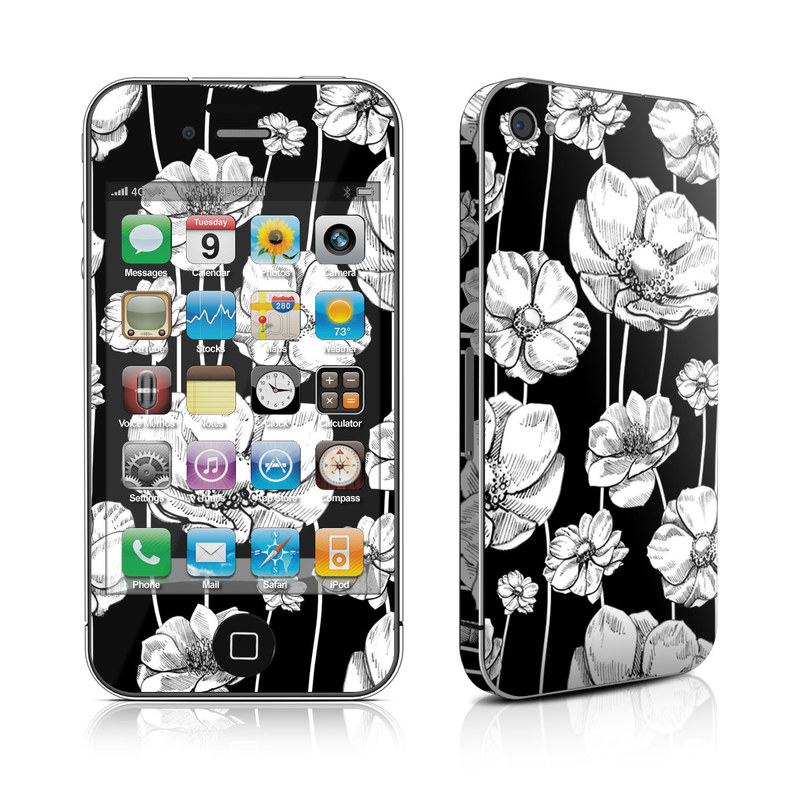 Striped Blooms iPhone 4s Skin