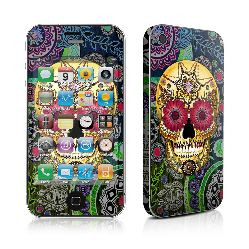 Sugar Skull Paisley iPhone 4s Skin
