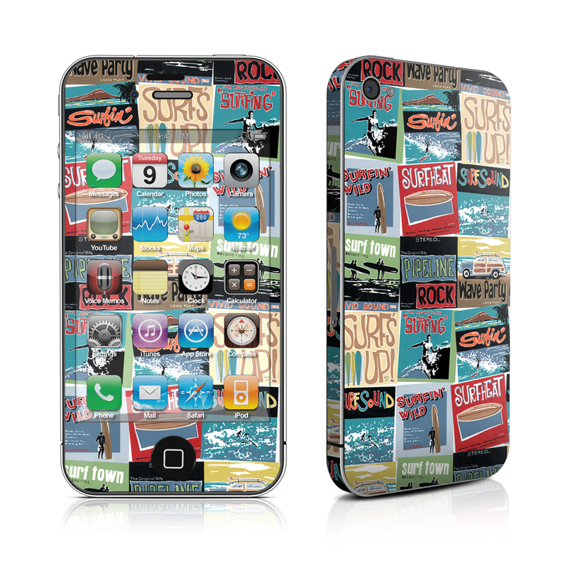 Surf Sounds iPhone 4s Skin