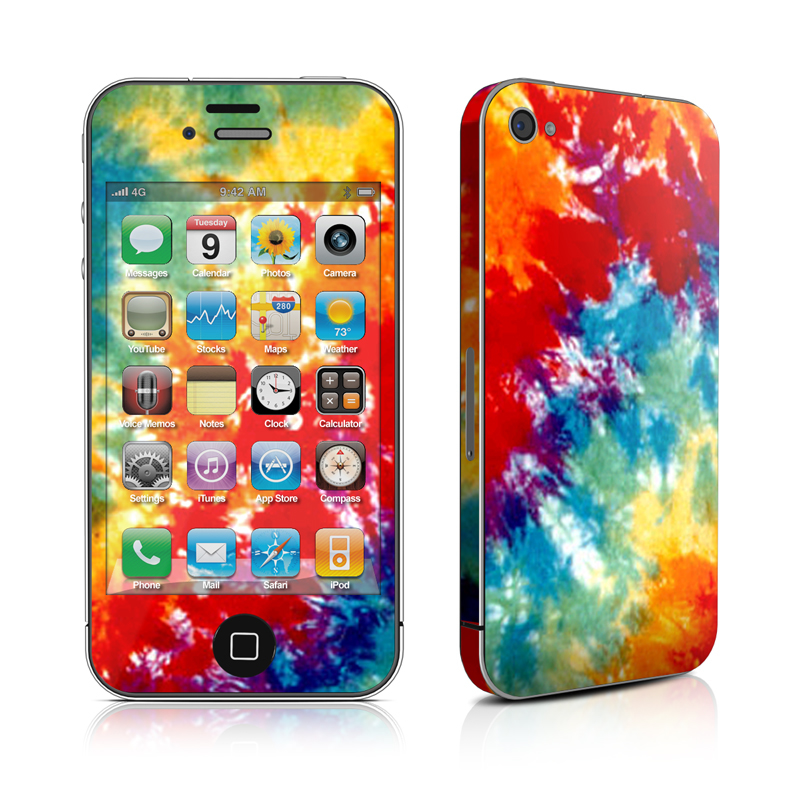 iPhone 4s Skin design of Orange, Watercolor paint, Sky, Dye, Acrylic paint, Colorfulness, Geological phenomenon, Art, Painting, Organism with red, orange, blue, green, yellow, purple colors