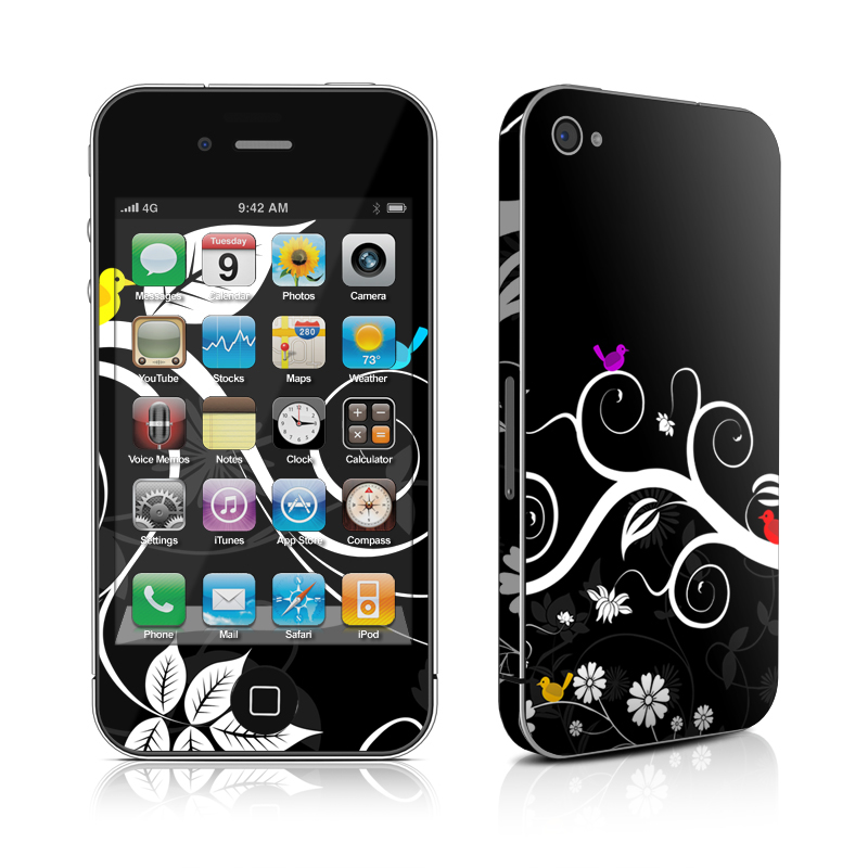 Tweet Dark iPhone 4s Skin