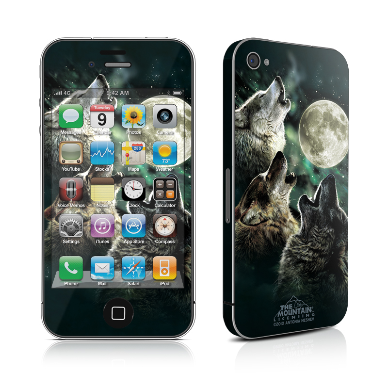 Three Wolf Moon iPhone 4 Skin