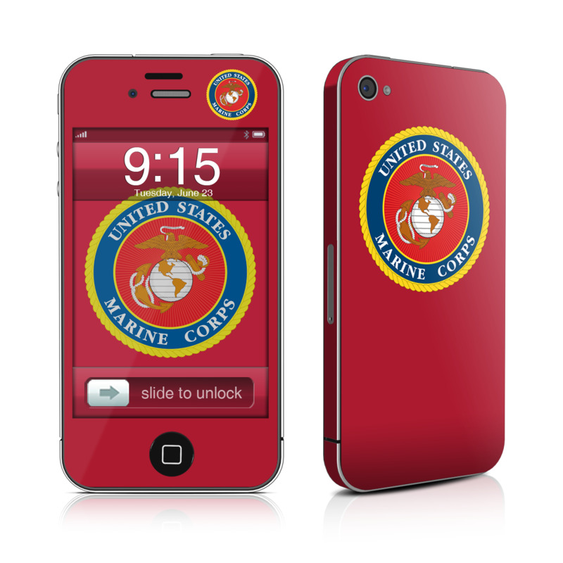 USMC Red iPhone 4s Skin