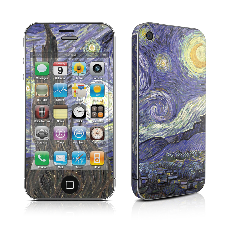 Starry Night iPhone 4s Skin