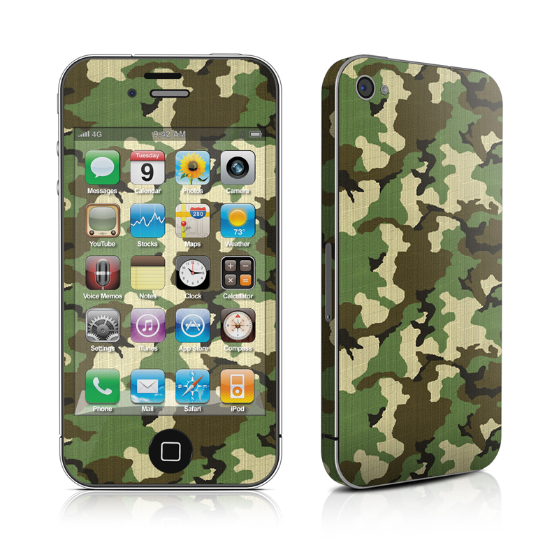 Woodland Camo iPhone 4s Skin