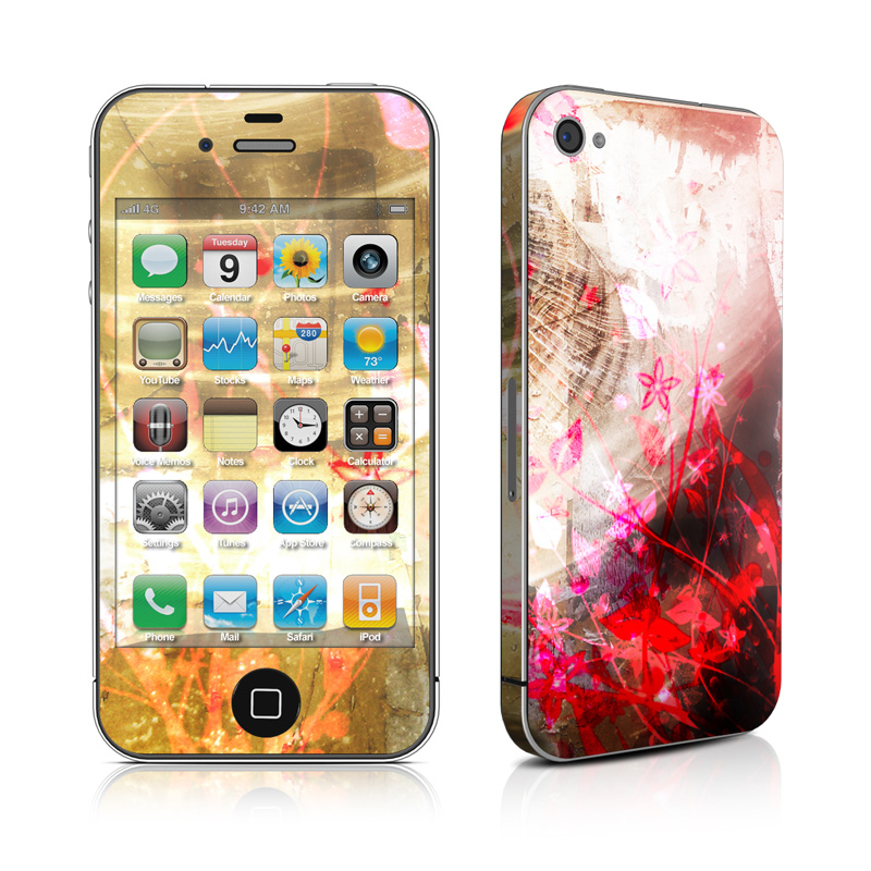 iPhone 4s Skin design of Red, Graphic design, Design, Pattern, Graphics, Art, Illustration, Font, Cg artwork with gray, green, pink, red, black, white colors