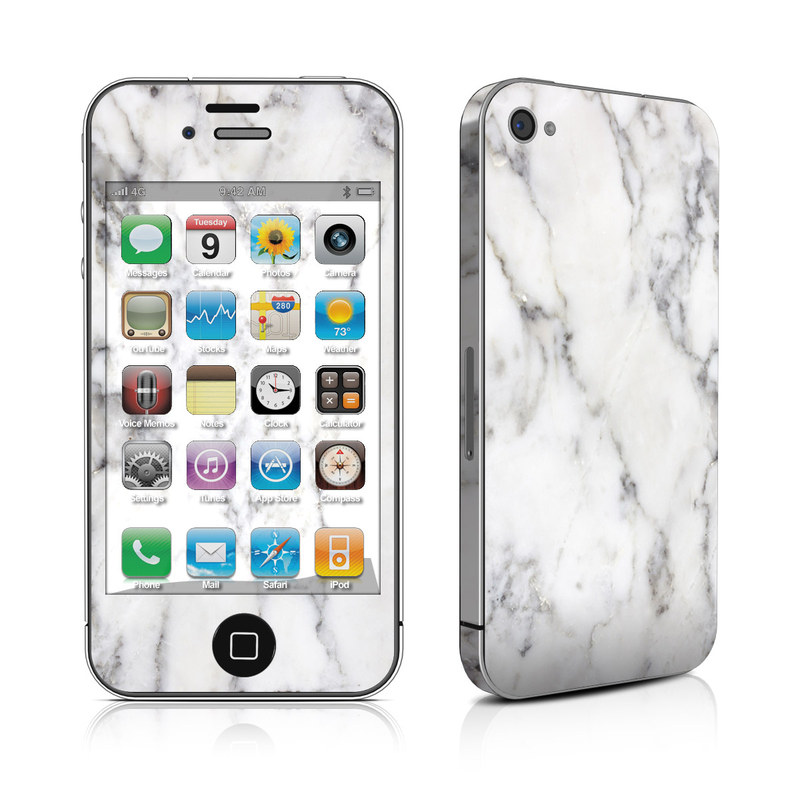 iPhone 4s Skin design of White, Geological phenomenon, Marble, Black-and-white, Freezing with white, black, gray colors