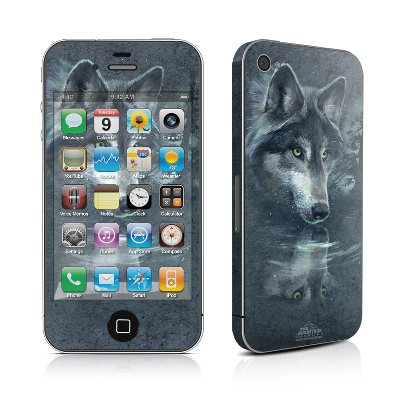 Wolf Reflection iPhone 4 Skin