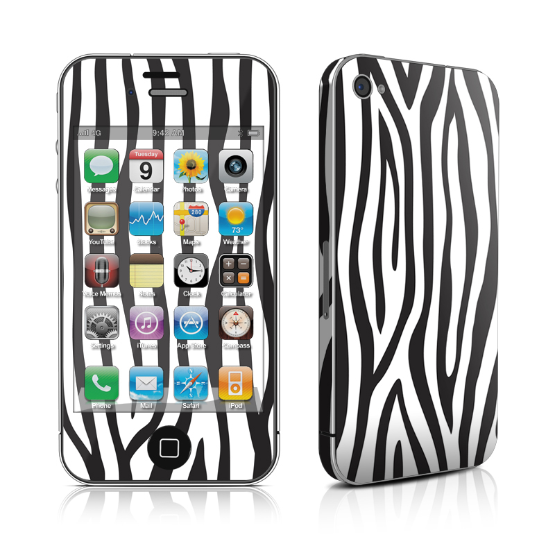 Zebra Stripes iPhone 4 Skin