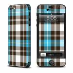Turquoise Plaid iPhone 5 Skin