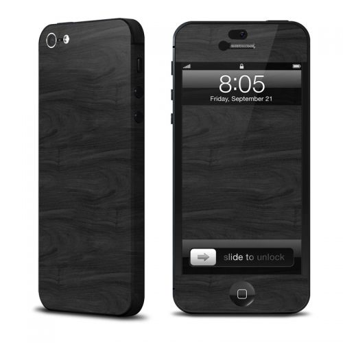 Black Woodgrain iPhone 5 Skin