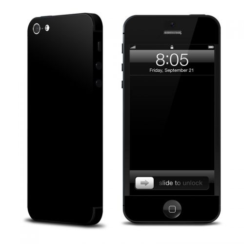 Solid State Black iPhone 5 Skin