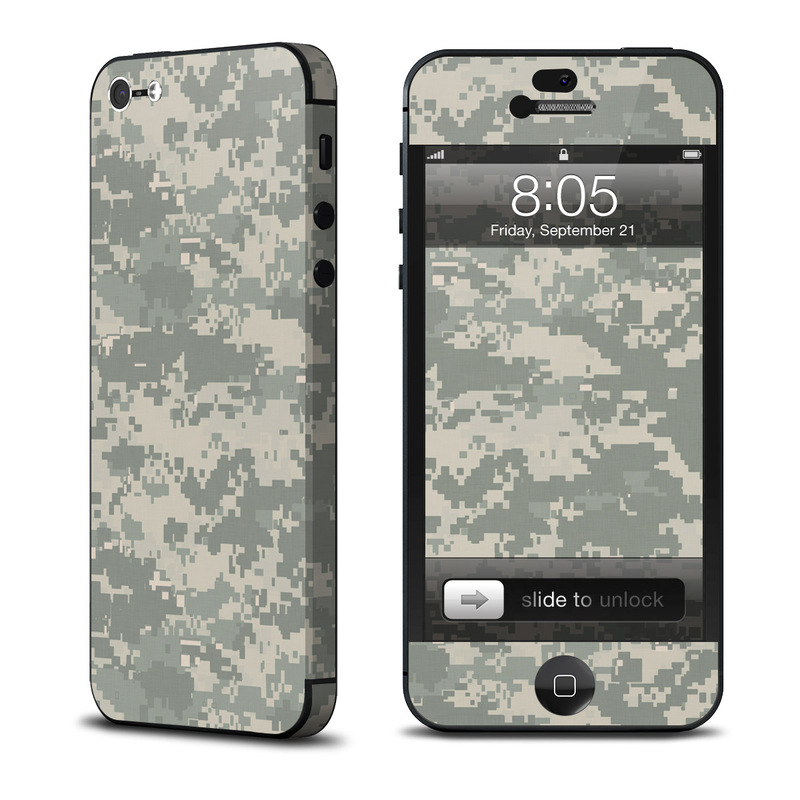 iPhone 5 Skin design of Military camouflage, Green, Pattern, Uniform, Camouflage, Design, Wallpaper with gray, green colors
