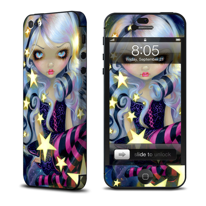iPhone 5 Skin design of Cg artwork, Purple, Violet, Illustration, Fictional character, Anime, Art, Graphics, Graphic design with blue, red, purple, white, yellow colors