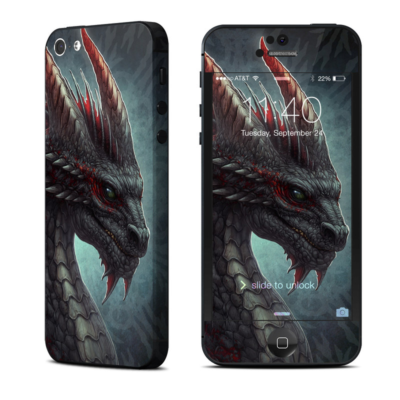 Black Dragon iPhone 5 Skin