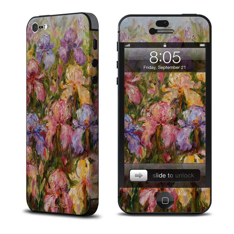 iPhone 5 Skin design of Flower, Painting, Still life, Plant, Watercolor paint, Flowering plant, Visual arts, Garden roses, Art, Artwork with black, gray, red, green, purple, blue colors