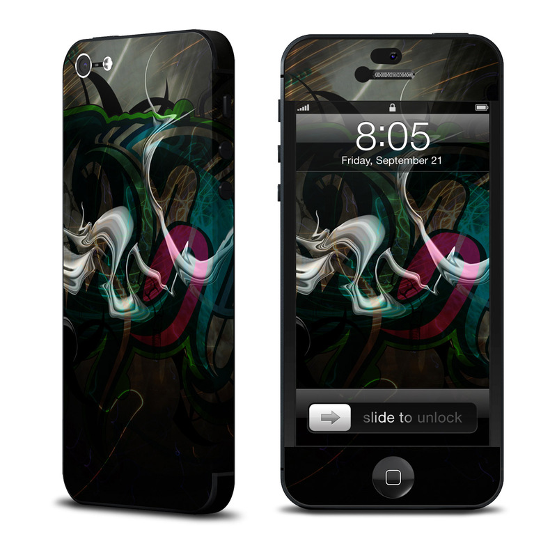 iPhone 5 Skin design of Graphic design, Art, Illustration, Font, Darkness, Design, Fractal art, Graphics, Calligraphy, Visual arts with black, gray colors