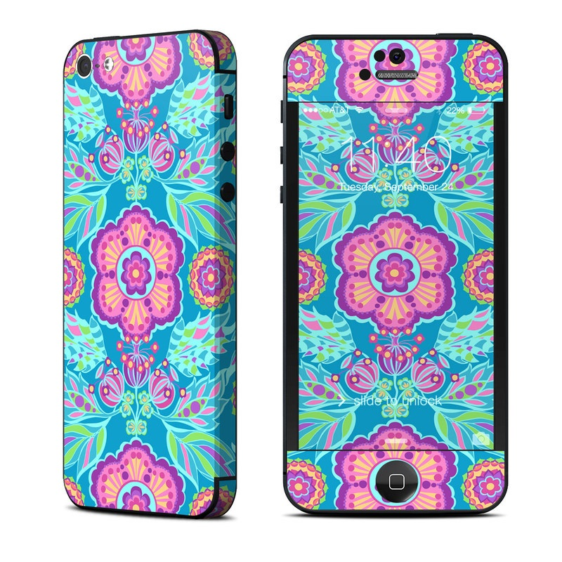 iPhone 5 Skin design of Pattern, Turquoise, Psychedelic art, Visual arts, Textile, Design, Magenta, Art, Motif, Symmetry with blue, gray, pink, purple colors